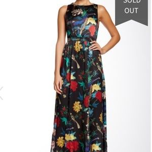 Alice + Olivia Elis T-Back Silk Maxi Dress NWT